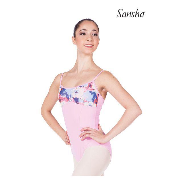 Costum de balet Sansha cu bretele subțiri ELEANOR 50AE008M