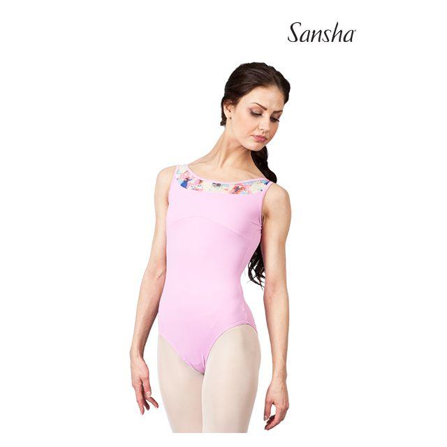 Costum de balet Sansha fără mâneci ABANA 50AE012M