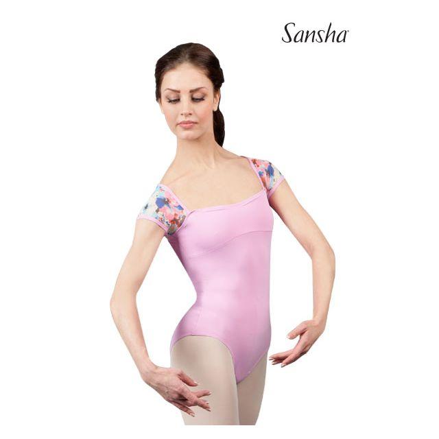 Costum de balet Sansha cu mânecuțe ACCALIA 50AE013M