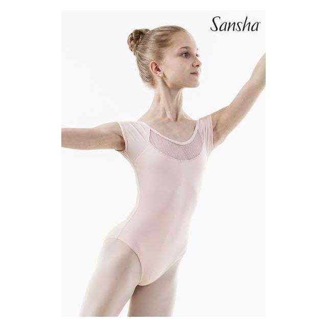 Costum de balet Sansha cu mâneci scurte LIZIANE 51AE004MN