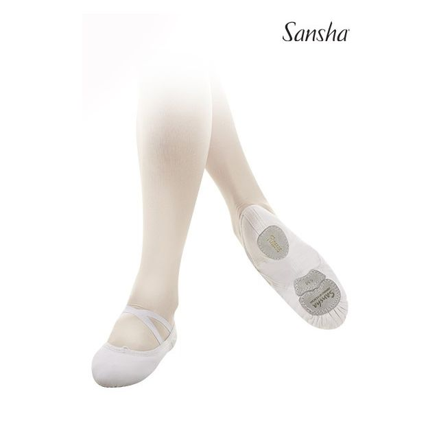 Flexibili Sansha cu talpa de piele LeBallet 52C