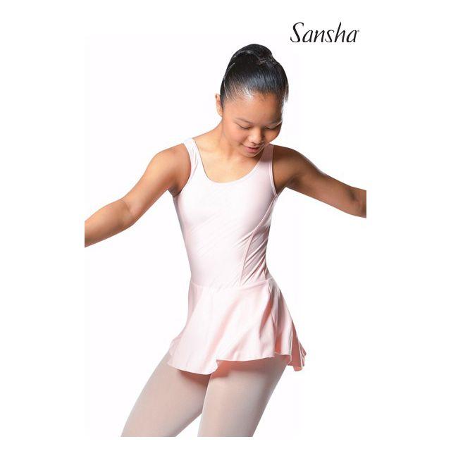 Costum de balet Sansha cu fustiță ANIUTA E518M