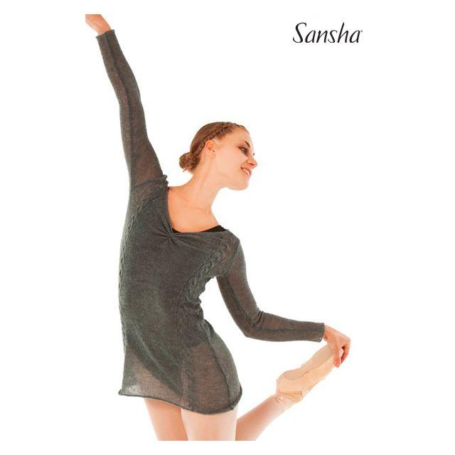 Bluză lungă Sansha din tricot KANISHA KT4056A