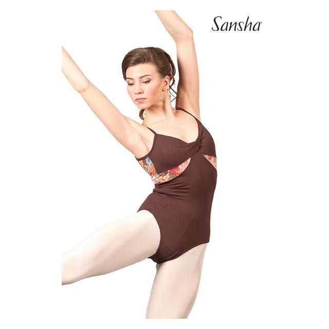 Costum de balet Sansha cu bretele subțiri ATIYA 50AE010M