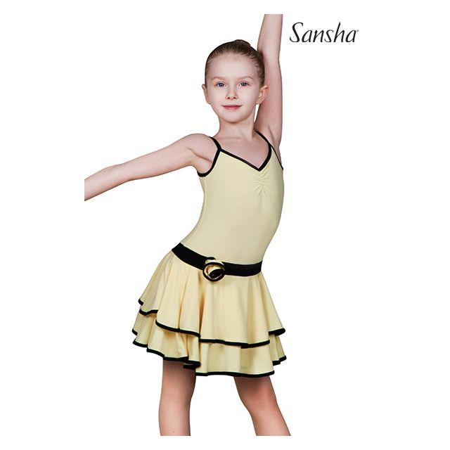 Rochie Sansha Ballroom cu bretele subțiri BLANCA Y1708P