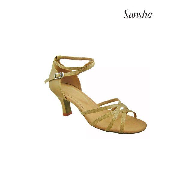 Sandale Sansha cu talpa de piele întoarsă BONITA BR23020PU
