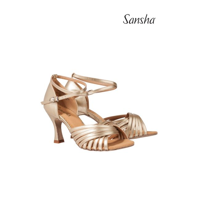 Sandale Sansha cu talpa de piele întoarsă KARLOTTA BR31066PU