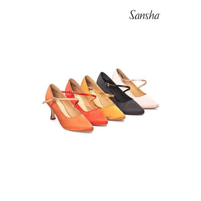 Pantofi Sansha cu talpa de piele întoarsă MIREYA BR30068S