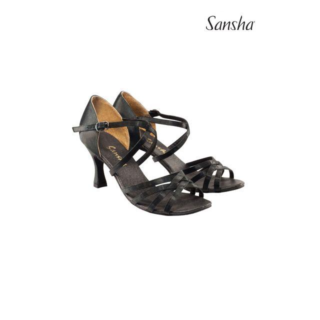 Sansha latin cu talpa de piele întoarsă ROSA BR31007S