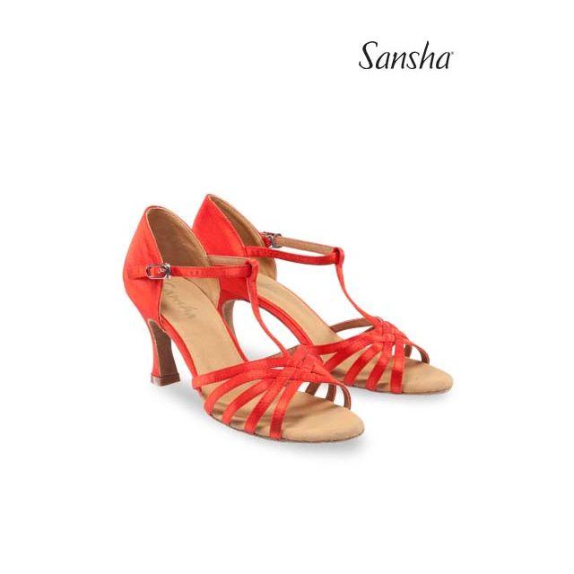 Sandale Sansha cu talpa de piele întoarsă JUANITA BR31028S