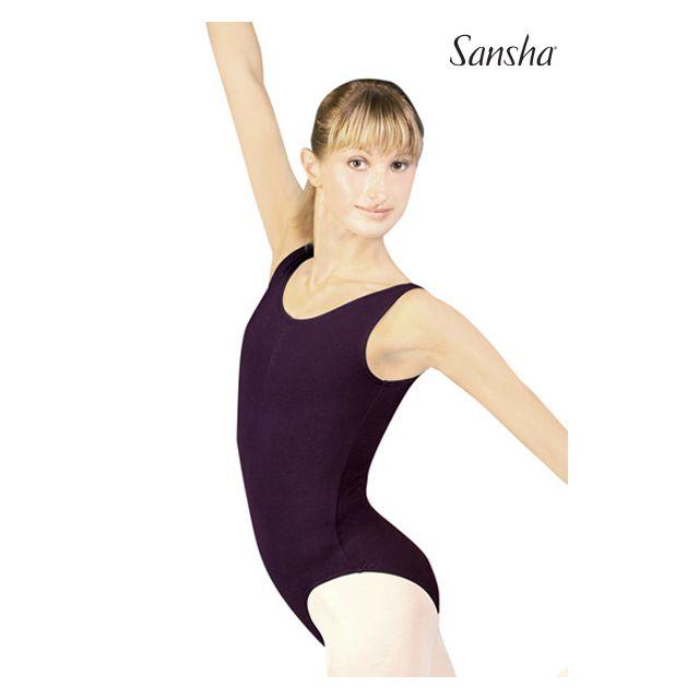 Costum de balet Sansha fără mâneci TOLIARA C160C