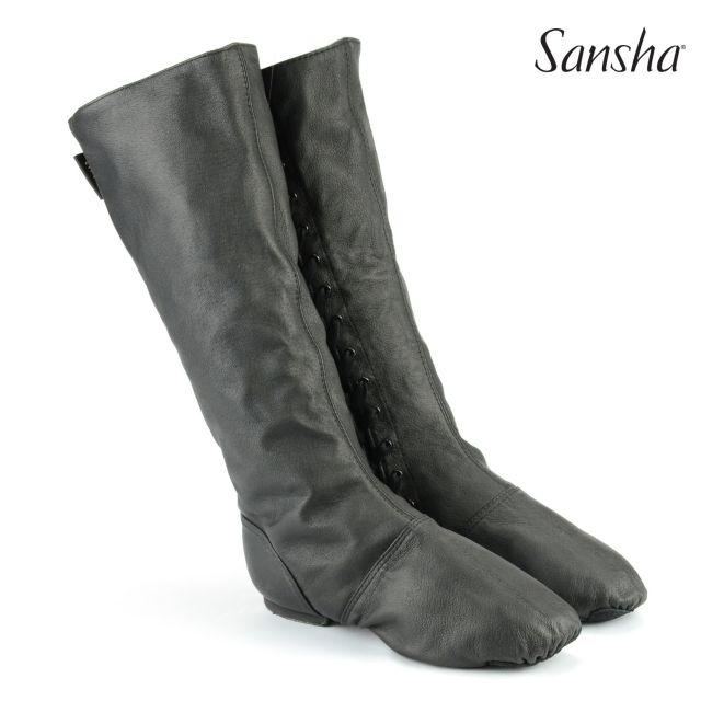 Cizme de caracter Sansha cu șiret lateral DON DUVAL CB5