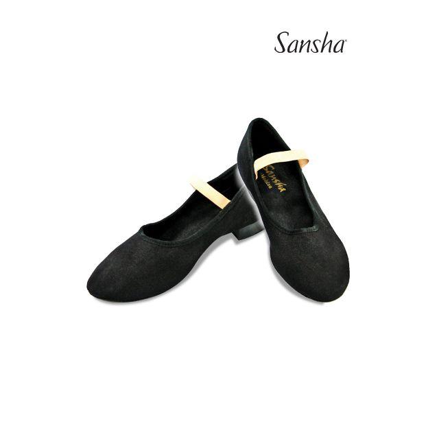 Pantofi de caracter Sansha cu elastic MOLDAU CL15C
