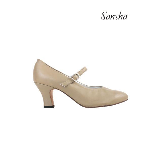 Pantofi de caracter Sansha cu baretă elastică ROBERTA CL54L