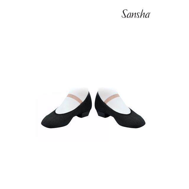 Pantofi de caracter Sansha cu elastic MAZURKA CS1C