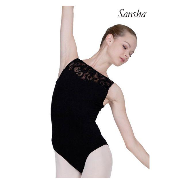 Costum de balet Sansha fără mâneci SEVILLA D2517C
