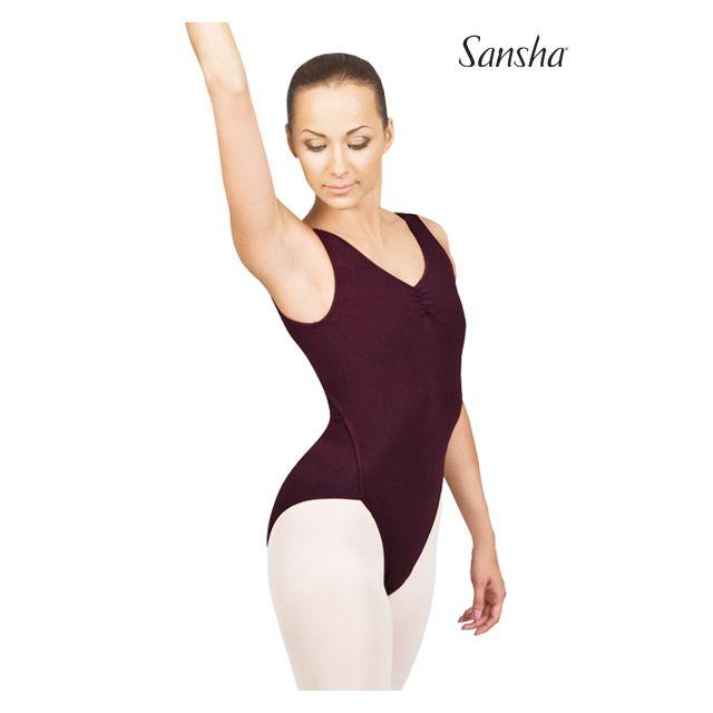 Costum de balet Sansha fără mâneci VANUATU D252C