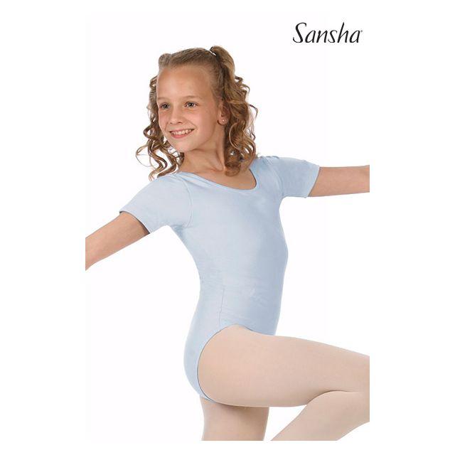 Costum de balet Sansha cu mâneci scurte MAGGY E255C