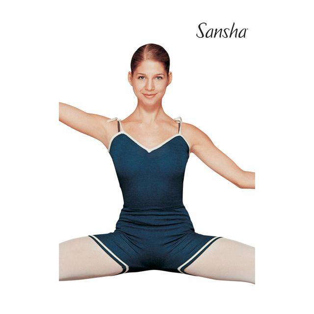 Salopetă tricotată Sansha cu bretele subțiri NENUPHAR KUS7