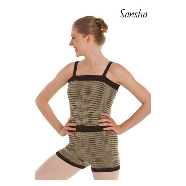 Salopetă tricotată Sansha cu bretele subțiri KALANIT KT1605A