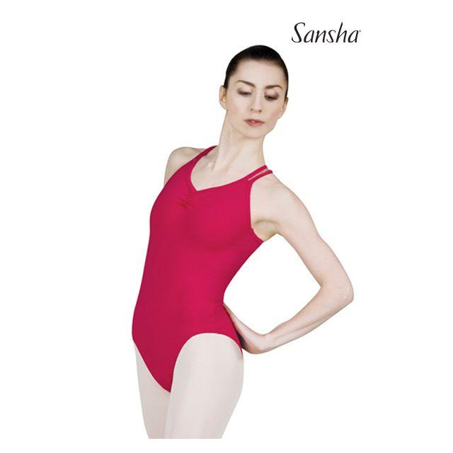 Costum de balet Sansha cu bretele subțiri CASSANDRA L1521C