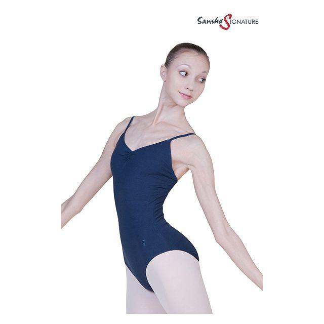 Costum de balet Sansha Sign cu bretele subțiri SHANA L1551C
