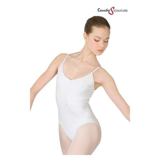 Costum de balet Sansha Sign cu bretele subțiri SAMARA L1552C