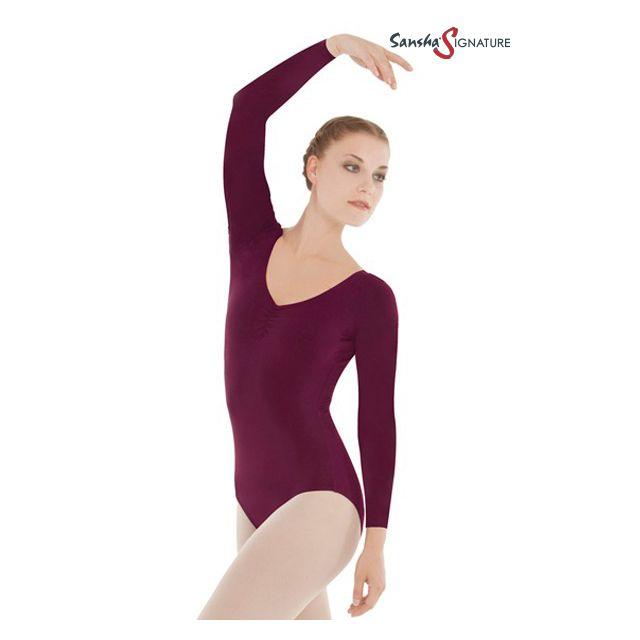 Costum de balet Sansha Sign cu mâneci lungi SIMONE L4551C