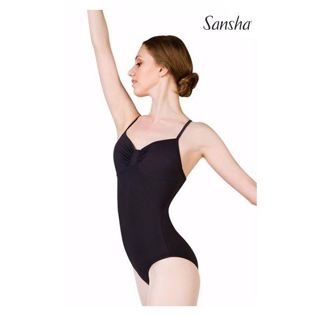 Costum de balet Sansha cu bretele subțiri ALYONA LE1544M