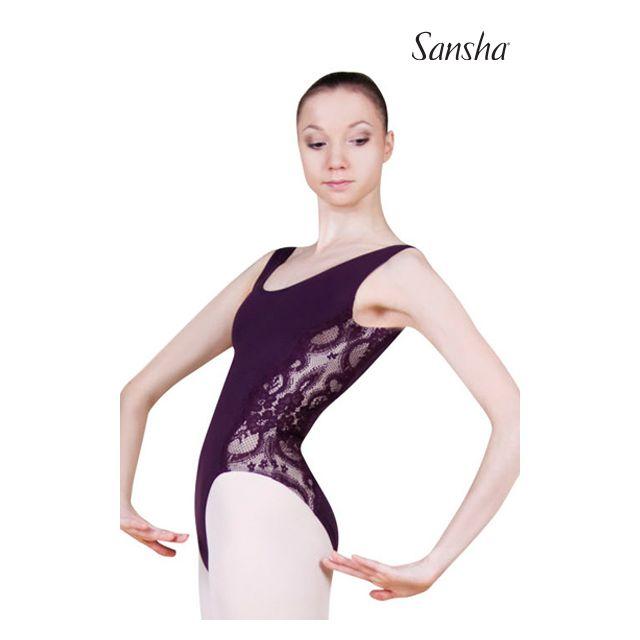 Costum de balet Sansha fără mâneci MALENA LE2528M