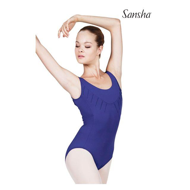 Costum de balet Sansha fără mâneci TASHA LE2545M