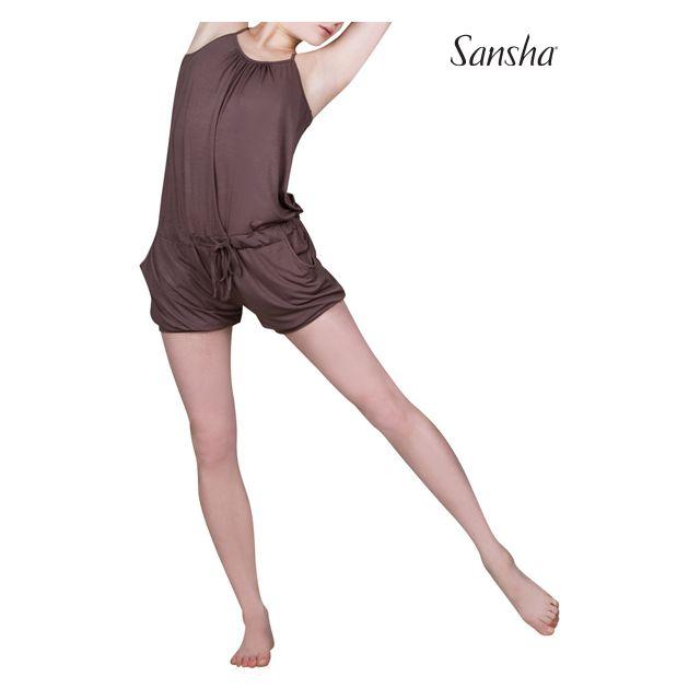 Salopetă Sansha cu bretele subțiri PEARLIE PL1601R