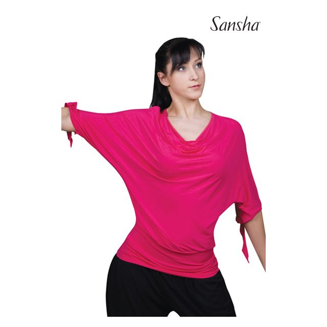 Tricou larg Sansha cu mâneci 3/4 PAULEEN PL3006R