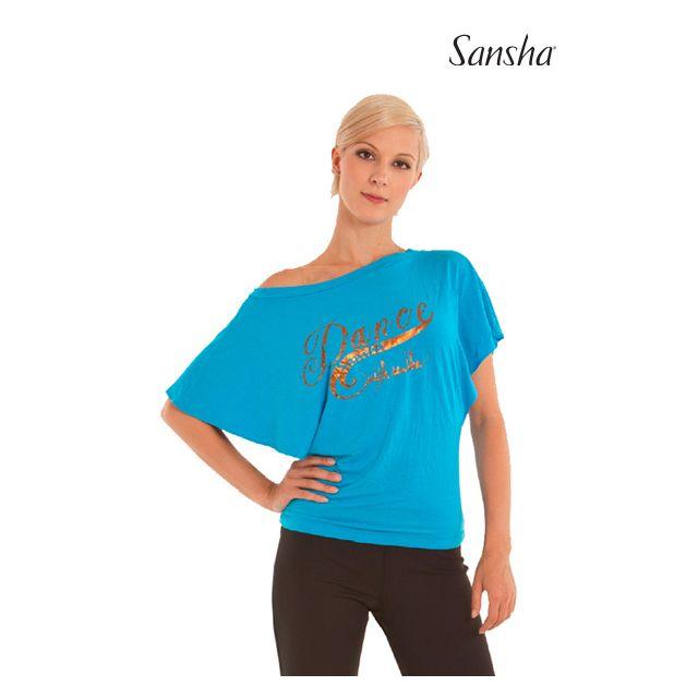 Tricou larg Sansha cu gât bărcuță SHIRAZ PL3008R