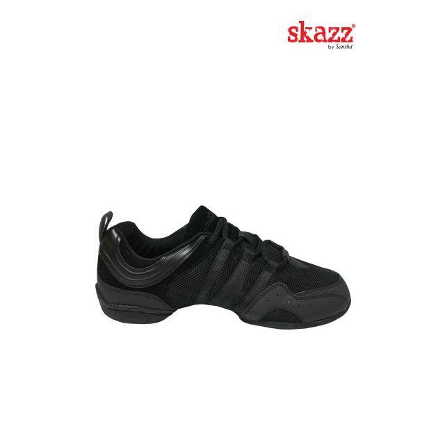 Sneakers Sansha Skazz cu talpa piele întoarsă SOLO NERO S22M