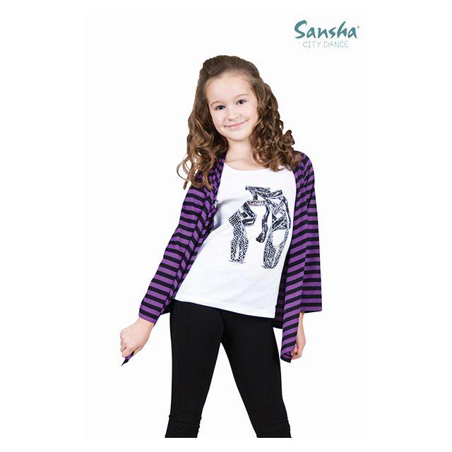 Bluză Sansha pentru fetițe cu jerseu fals SH-6