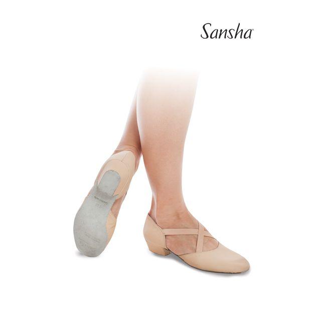 Pantofi pentru profesor Sansha de piele ALBA TE7L