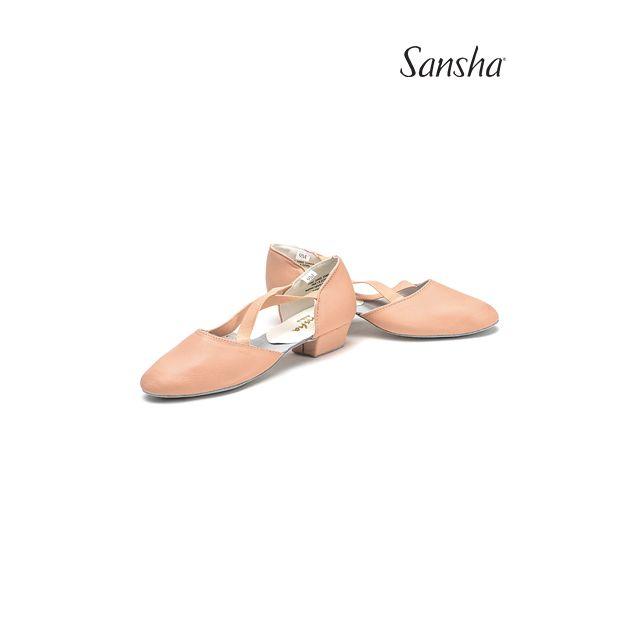 Pantofi pentru profesori Sansha de pânză ALBA TE8C
