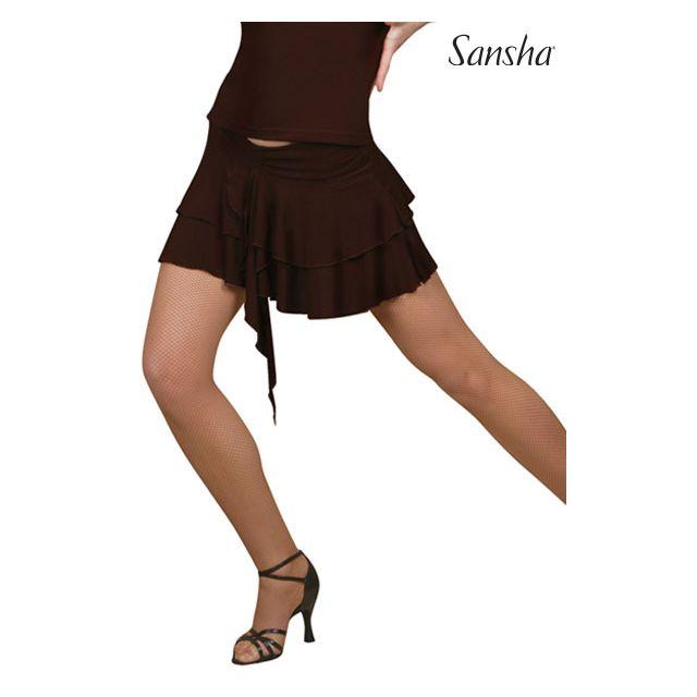 Fustă Sansha ballroom cu două volănașe SOLEDAD W0705P