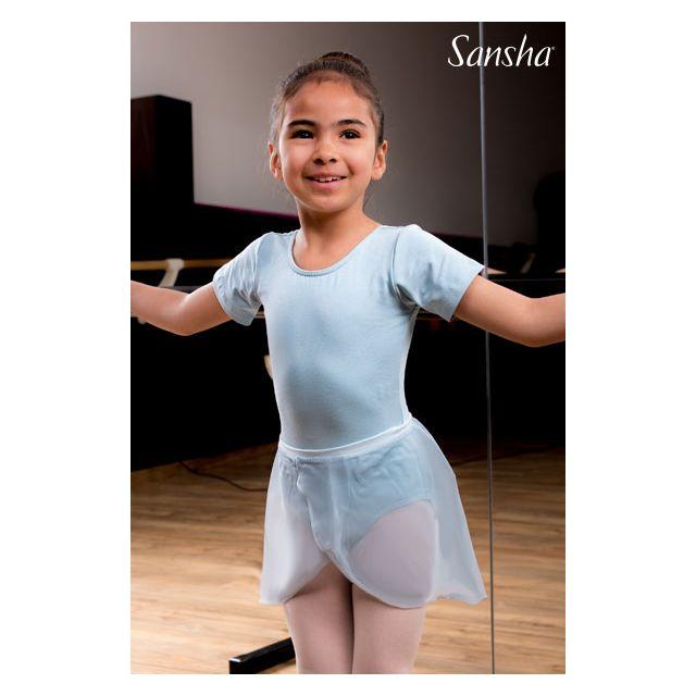 Costum de balet Sansha cu mâneci scurte INDIA XY3519C