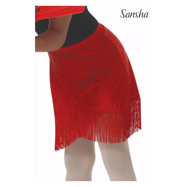 Fustă pentru fete Sansha cu elastic și franjuri NINA Y0716P