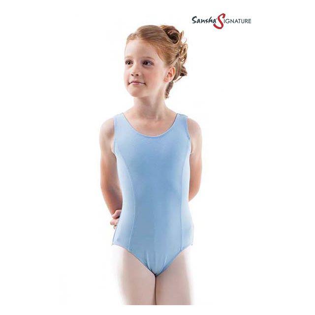 Costum de balet Sansha Sign fără mâneci SKYLAR Y2552C