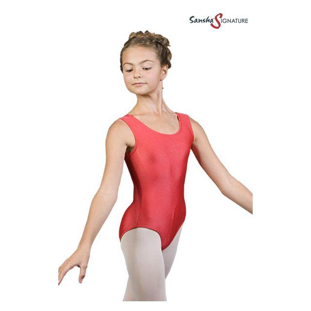 Costum de balet Sansha Sign fără mâneci SHANICE Y2555C