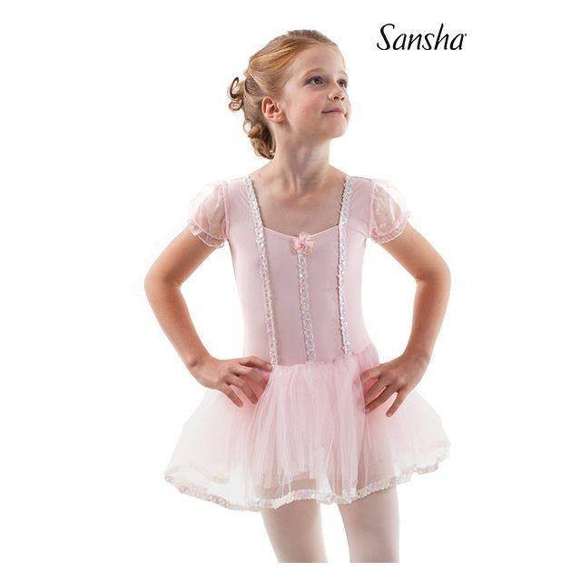 Rochie-tutu Sansha cu mâneci scurte FIDELITY Y3801N